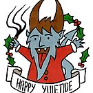 Happy Yuletide from the Krampus by QueenHare