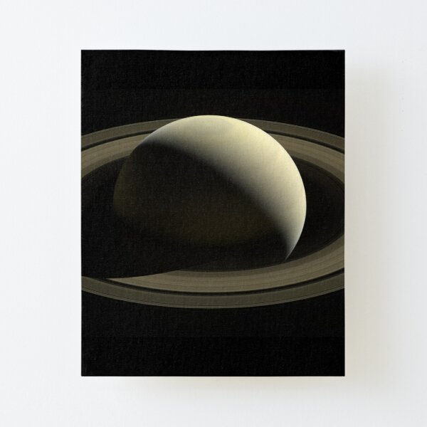 Real View of Planet Saturn Canvas Mounted Print