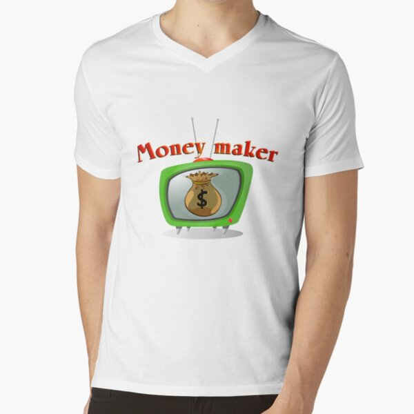 Money maker V-Neck T-Shirt