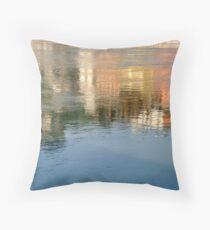 Rhone river reflection Throw Pillow
