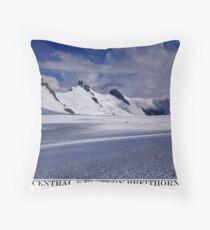 central & eastern breithorn Throw Pillow