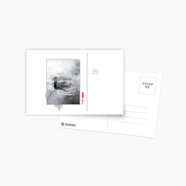 Mindfulness In Monochrome - Fingers Postcard