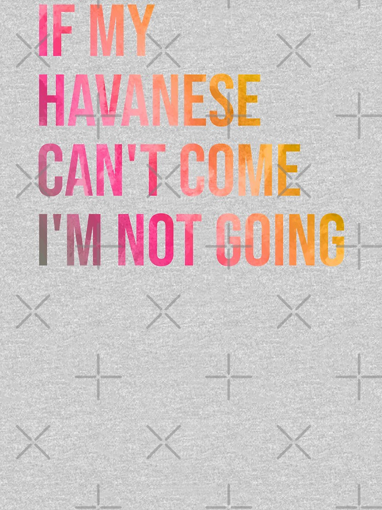 If my Havanese can't come I'm not going by DuxDesign