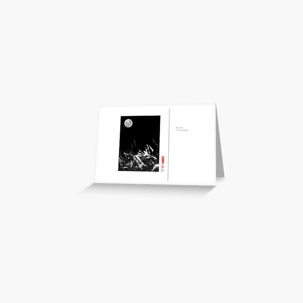 Mindfulness In Monochrome - Moonlight Greeting Card