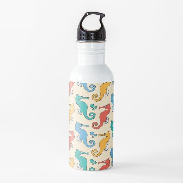 Seahorses Yellow Water Bottle