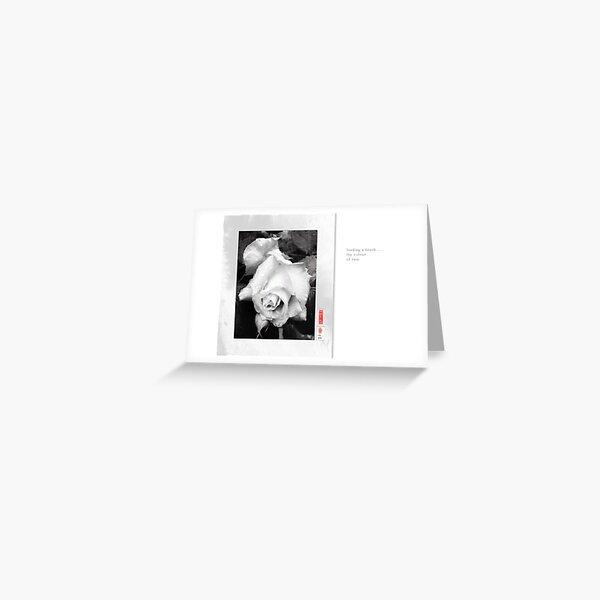 Mindfulness In Monochrome - Rain Greeting Card