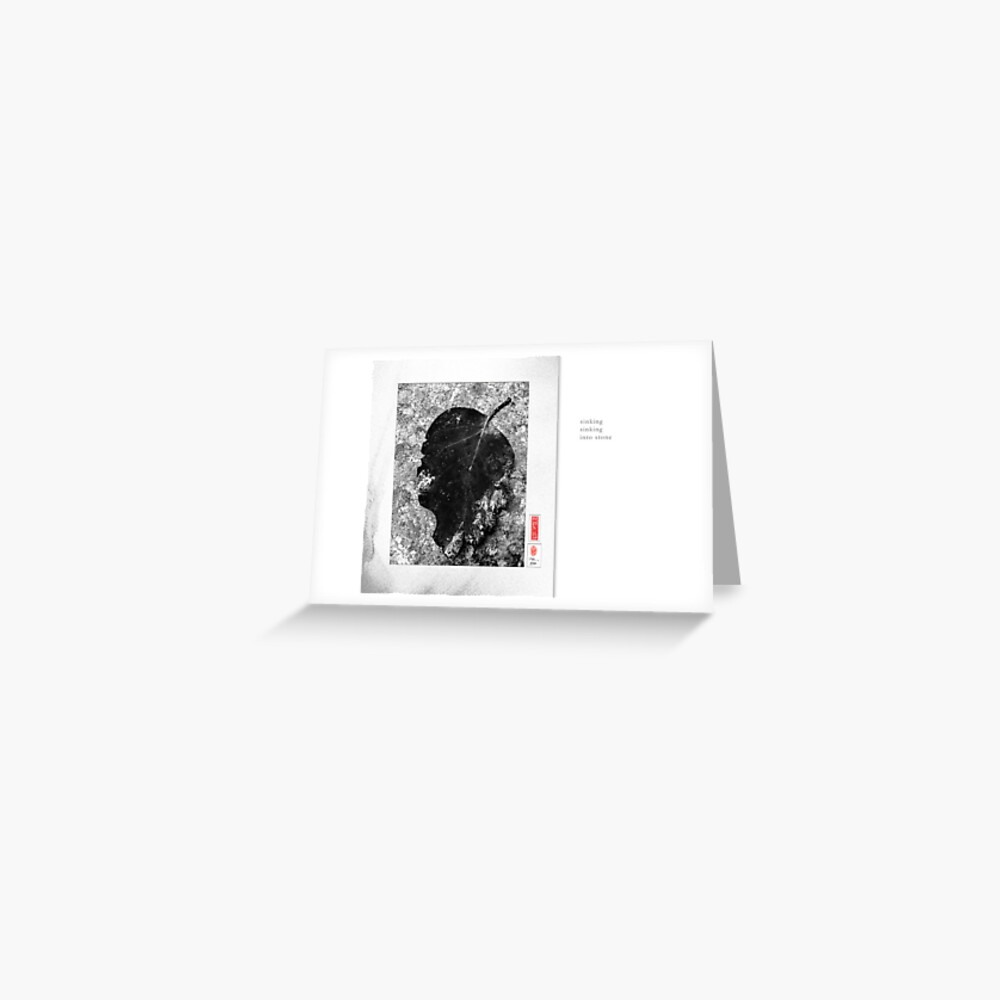 Mindfulness In Monochrome - Sinking Greeting Card
