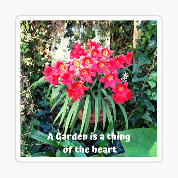 A garden is a thing of the Heart - new Sticker