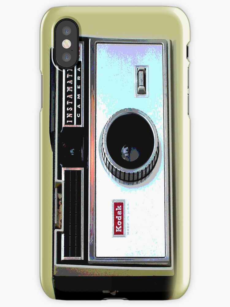 retro camera iphone case by andytechie