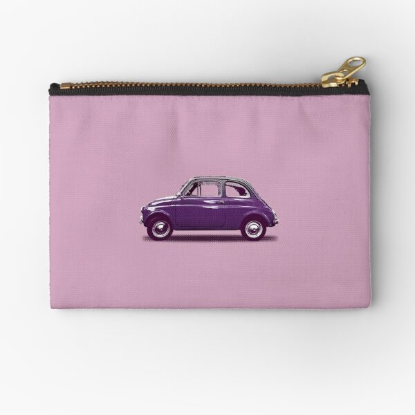 Purple Fiat 500 Zipper Pouch