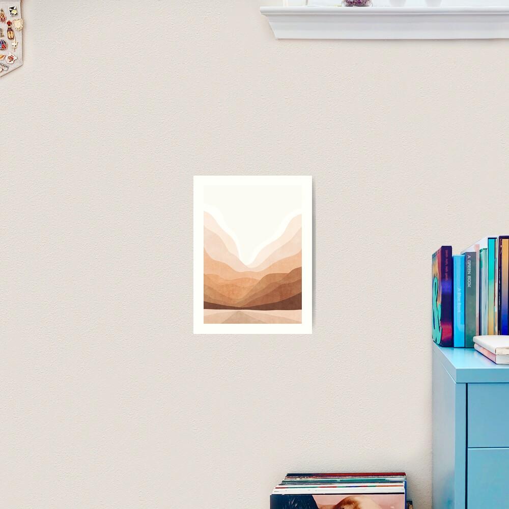Warm mountain landscape Art Print