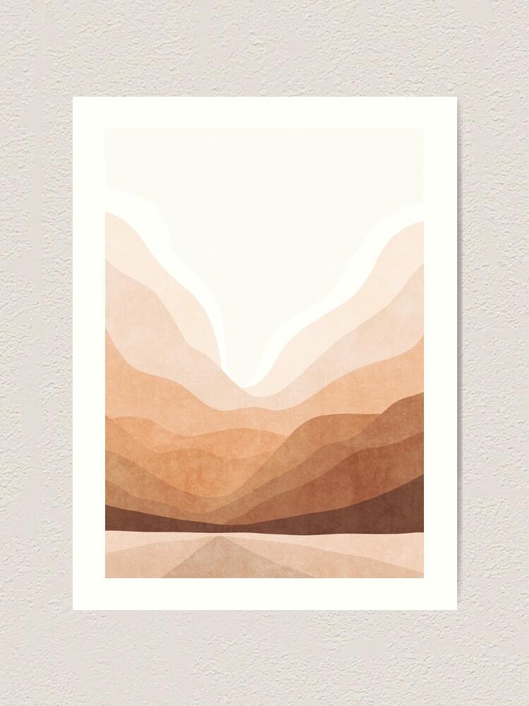Alternate view of Warm mountain landscape Art Print