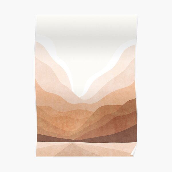 Warm mountain landscape Poster