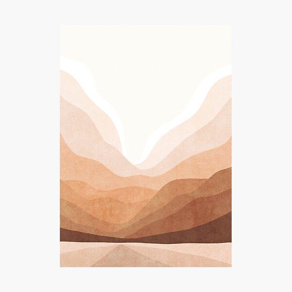 Warm mountain landscape Photographic Print