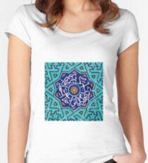 Beautiful Persian Mosaic Design Women's Fitted Scoop T-Shirt