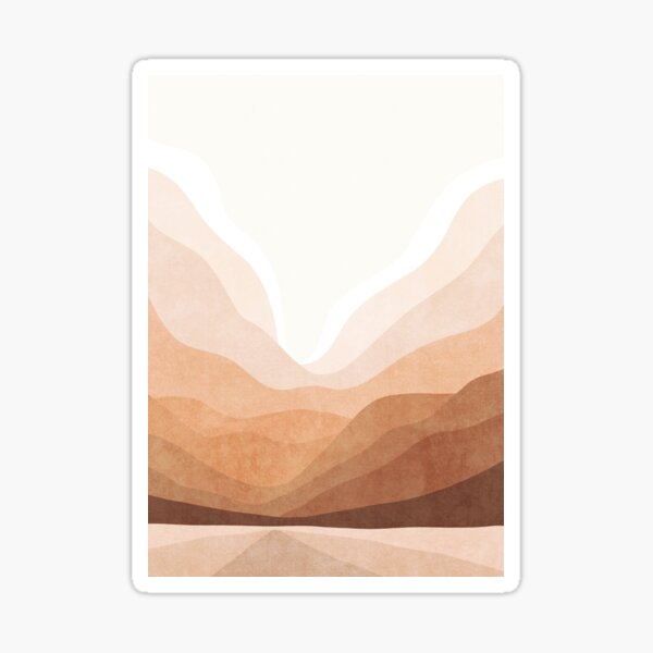 Warm mountain landscape Sticker