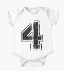 Bold Distressed Sports Number 4 One Piece - Short Sleeve
