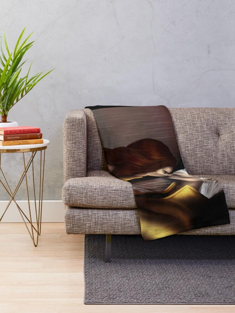 Alternate view of Carved in Crystal Throw Blanket