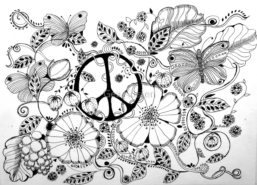 PEACE/CND by Gea Austen