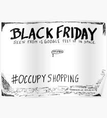 Occupy Shopping cartoon Poster