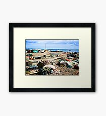 The beach at Beer Framed Print