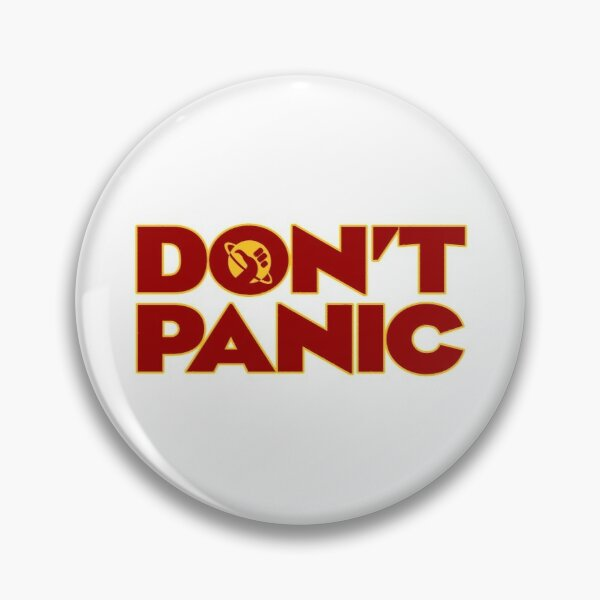 Don't Panic Hitchhikers Guide To The Galaxy Pin