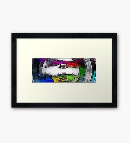 Emerging Radial Framed Print