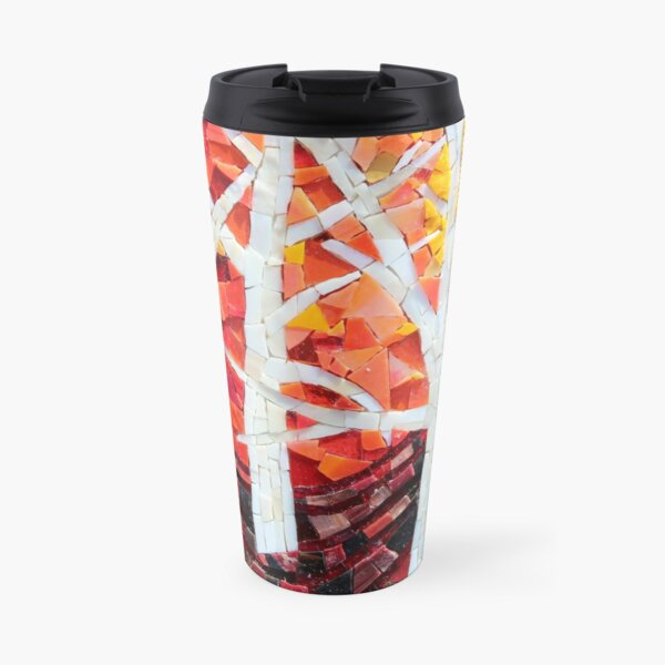 Sunset over the Birches Mosaic by Sue Kershaw Travel Mug