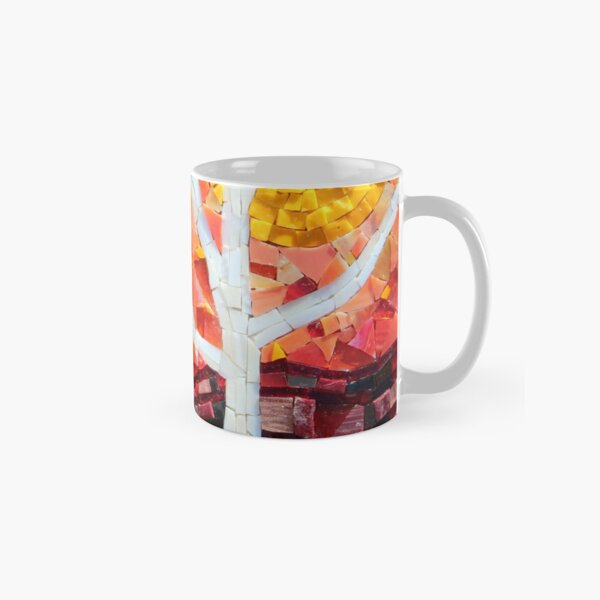 Sunset over the Birches Mosaic by Sue Kershaw Classic Mug