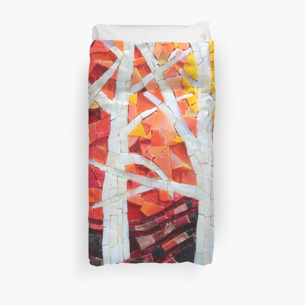 Sunset over the Birches Mosaic by Sue Kershaw Duvet Cover