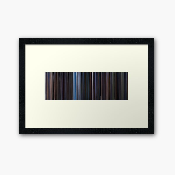 Moviebarcode: Star Wars: Original Trilogy (1977-1983) Framed Art Print