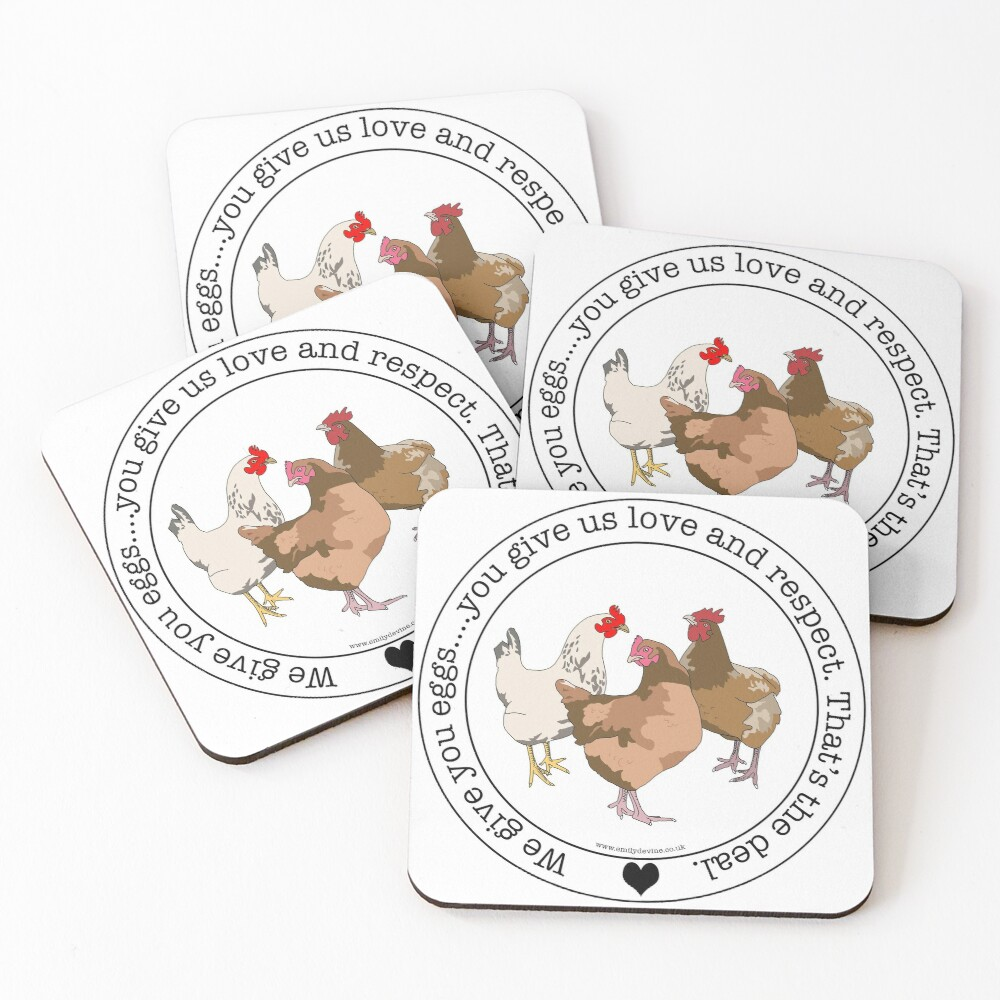 Eggs For Love And Respect Coasters (Set of 4)