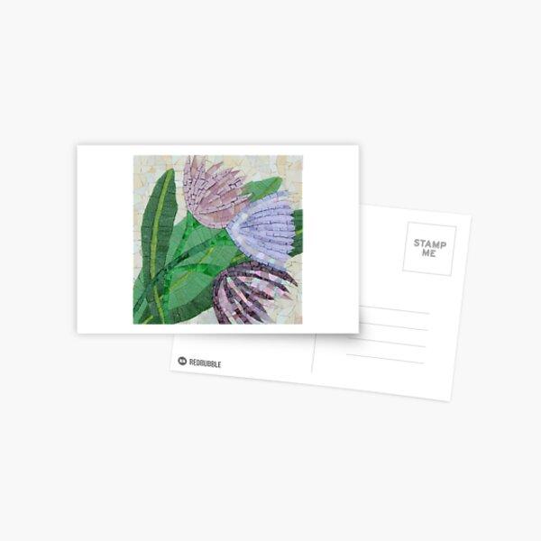 Trio of Flowers Mosaic by Sue Kershwa Postcard