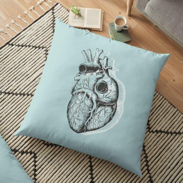 Anatomical Heart • Pastel Blue • Pastel Goth Floor Pillow