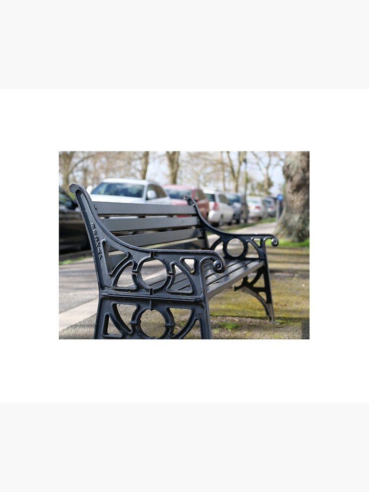 Bench for people to sit along the Thames river embankment in Windsor, Berkshire, England, UK by santoshputhran