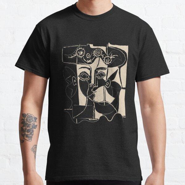 Tête de femme Picasso # 8 ligne noire T-shirt classique