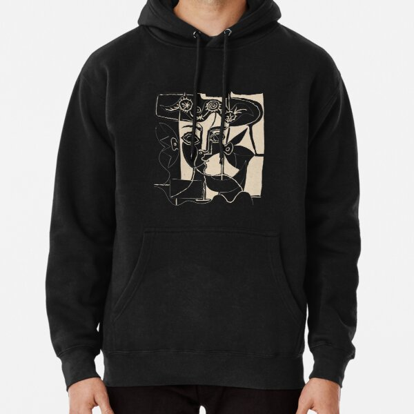 Picasso Woman's head #8 black line Pullover Hoodie