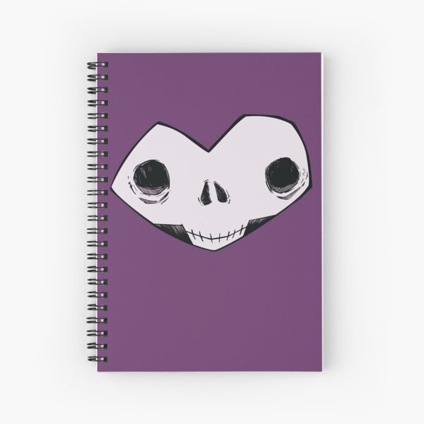 Memento Mori No. I (purple) Spiral Notebook