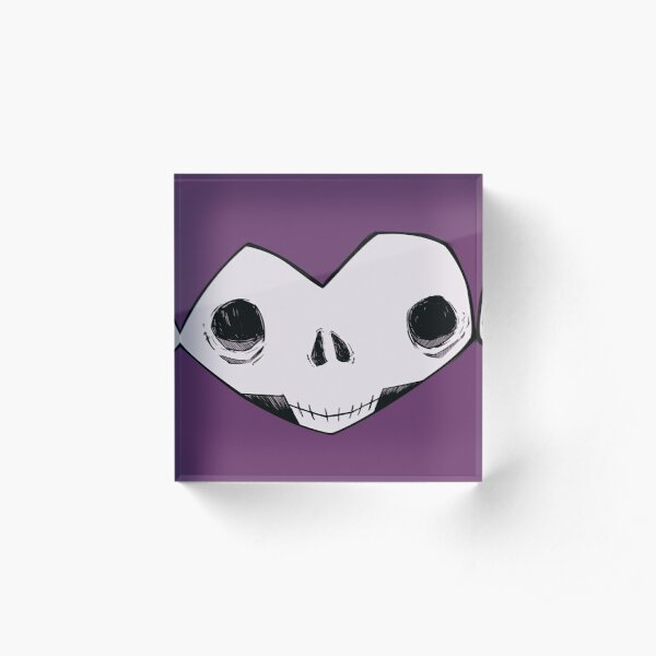 Memento Mori No. I (purple) Acrylic Block