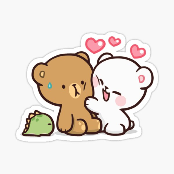 Bear Love Glossy Sticker