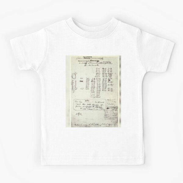 Mendeleev's Periodic Table Draft Is Virtually Unrecognizable — But It Changed Science Forever Kids T-Shirt