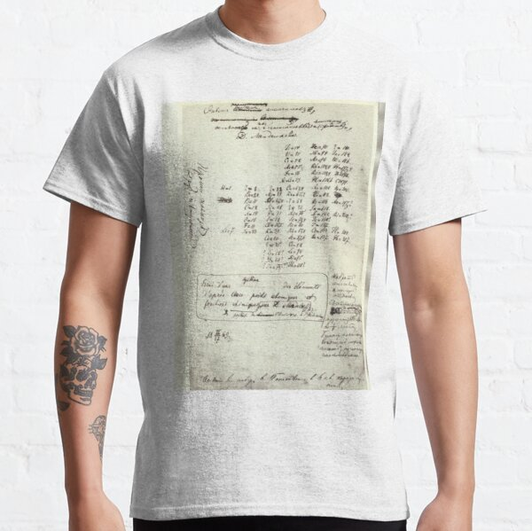 Mendeleev's Periodic Table Draft Is Virtually Unrecognizable — But It Changed Science Forever Classic T-Shirt