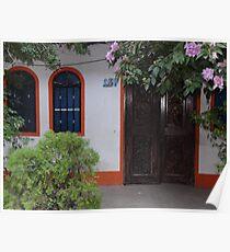 Typical house of the tropical zone - Casa típica para la zona tropical Poster