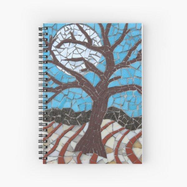 Moonlit Tree Mosaic by Sue Kershaw Spiral Notebook