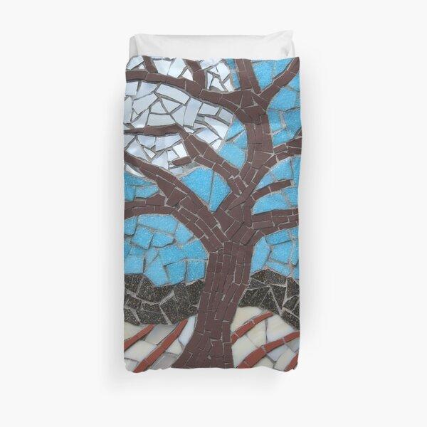 Moonlit Tree Mosaic by Sue Kershaw Duvet Cover