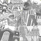 Collage Albany NY Historic District by John Schneider