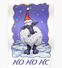 Sheep Christmas Card Poster
