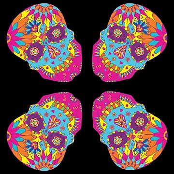 Coloured Sugar Skull by HekimoArt