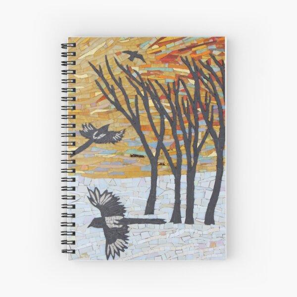 Sunset Flight Mosaic by Sue Kershaw Spiral Notebook
