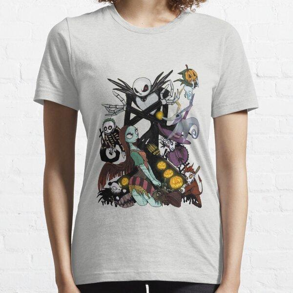 Nightmare Before Fantasy Nightmare Before Christmas Movie Parody Black T-Shirt